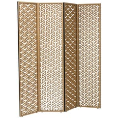 100xbtr Contemporary Quentin Folding Screen in Extira with Baltic Birch Frame