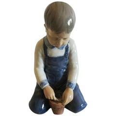 Bing & Grondahl Figurine #2127 of Boy with Bucket