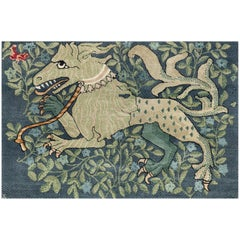 'The Gryphon' Hand-Knotted Tibetan Rug Made in Nepal by New Moon Rugs