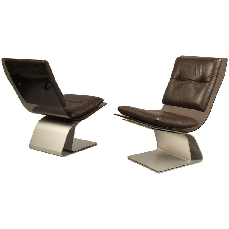 Pair of Slipper Chairs by Maison Jansen, France, 1970s For Sale