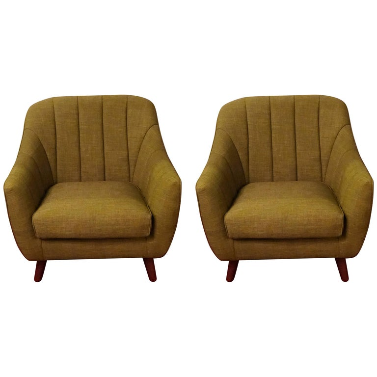 Pair of Mid-Century Modern Style Oversized Chairs