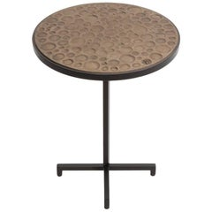 Re: 205 Blackened Steel Side Table with Inlaid Handmade Stoneware Tile