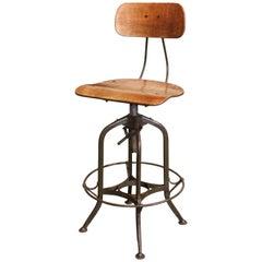 Original Vintage Adjustable Toledo Bar Stool Drafting Chair