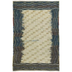 Turkish Kilim Rug with Modern Tribal Style, Flat-Weave Rug
