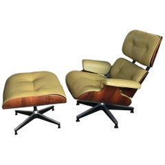 Eames Herman Miller Lounge Chair 670 671 Minty Green Leather