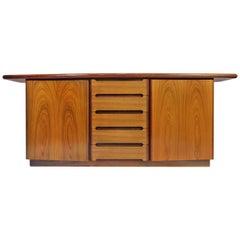 Danish Mid-Century Modern Credenza Sideboard Cabinet by Skovby
