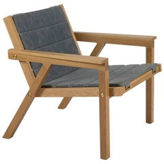 100xbtr Contemporary Breezeway Chair in White Oak with Waxed Canvas Cushion