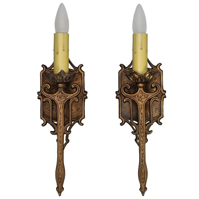 Pair of Single 1920s Sconces For Sale