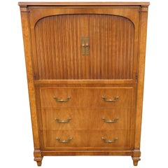 Handsome Neoclassical Walnut Widdicomb Tall Chest Dresser Mid-Century Modern