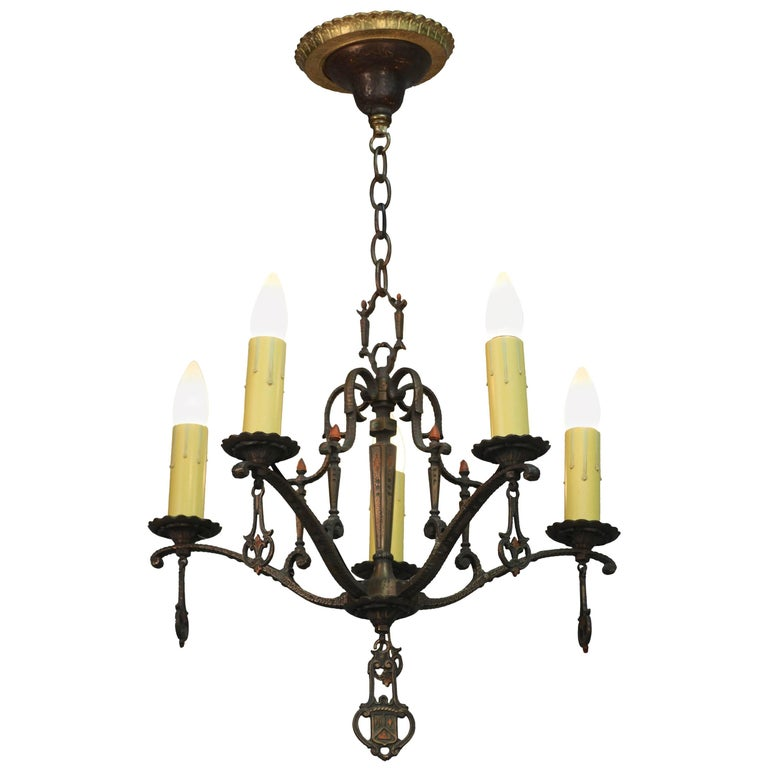 1920s Polychrome Spanish Revival Chandelier
