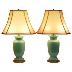 Pair of Paul Hanson Lamps