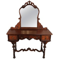 Spanish Revival Vanity with Mirror by Berkey & Gay