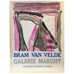Original Vintage Poster, Galerie Maeght Bram Van Velde, 1975