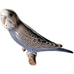 Bing & Grondahl Figurine Budgerigar Blue #2210