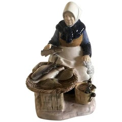 Bing & Grondahl Figurine Fisherwoman #2233