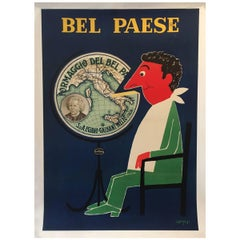 Original Vintage French Poster, Bel Paese Cheese by Savignac, 1955