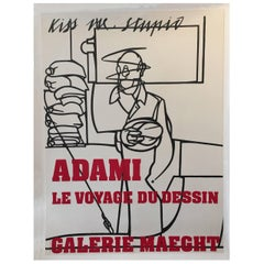 Original Vintage French Poster, Galerie Maeght Adami Exhibition, 1975