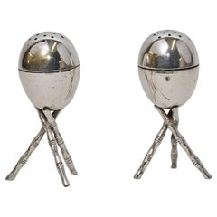 Pair of Vintage Silver Plated Salt and Pepper Shakers