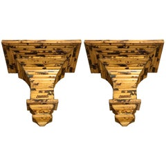 Two Pairs of Regency Style Bamboo Wall Brackets
