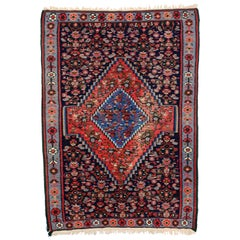 Vintage Persian Bijar Accent Rug with Traditional Style, Entry or Foyer Rug