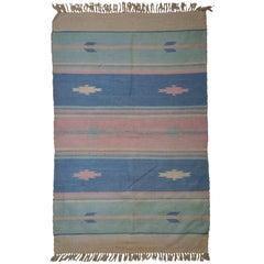 Handmade Vintage Indian Dhurri Kilim, 1960s, 1C70