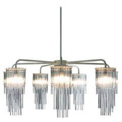 GS Chandelier Contemporary Quickship in Metal and Glass