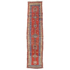 Antique Persian Sarab Runner with Mid-Century Modern Tribal Style
