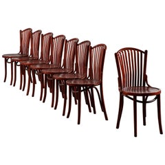 Set of Eight French Bentwood Chairs