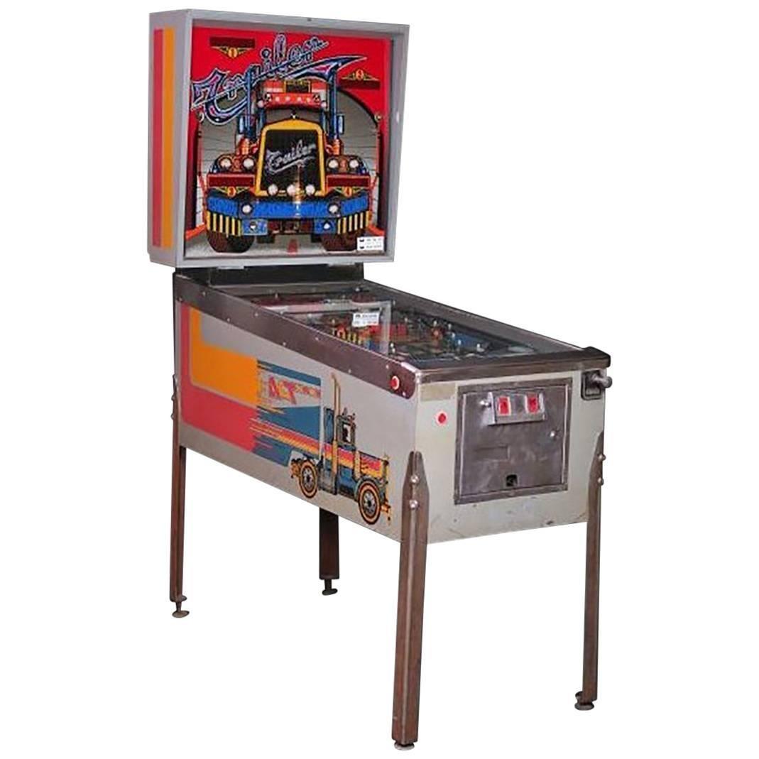1980s Recreational Machine Model Pinball Trailer Playmatic