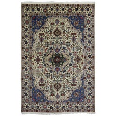 Vintage Persian Tabriz Area Rug with Modern Traditional Style