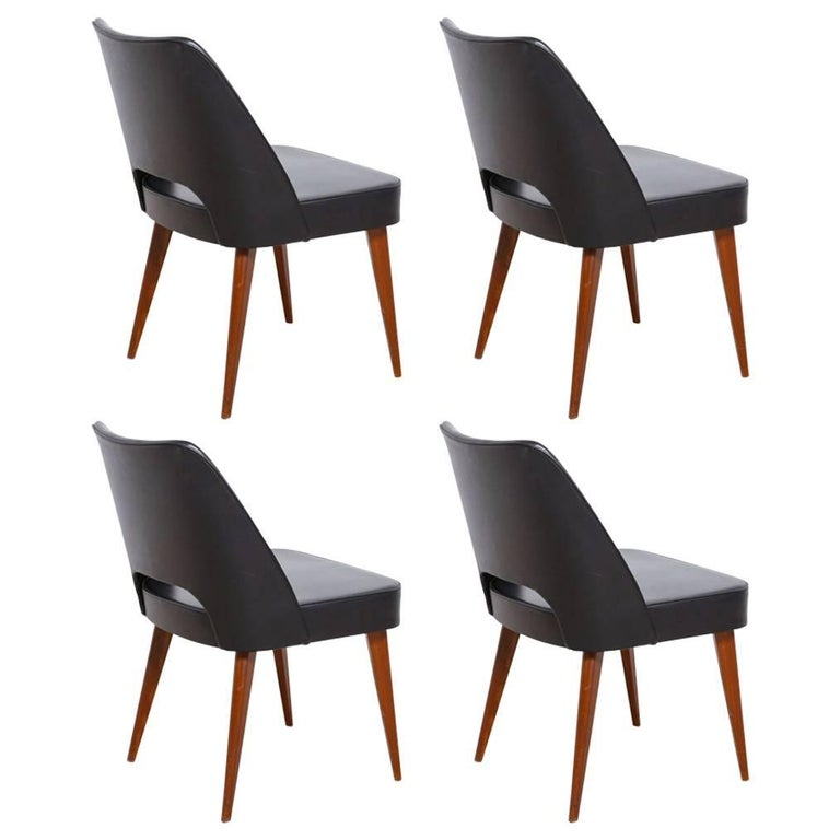 Set of Four Thonet 1950s Dining Chairs