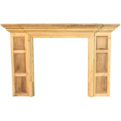 19th Century Stripped Pine Fire Surround