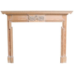 Carved Pine Fire Surround / Mantel, circa 1910