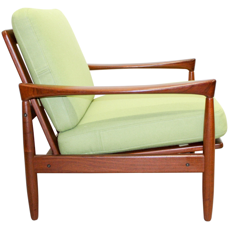 """Erik Wørts """"Kolding"""" Teak Lounge Chair"""