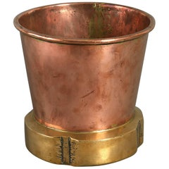 19th Century Victorian Period Brass and Copper Cooler or Planter