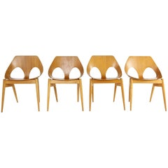 "Modernist Plywood Chairs by Carl Jacobs C2 ""Jason Chair"" for Kandya"