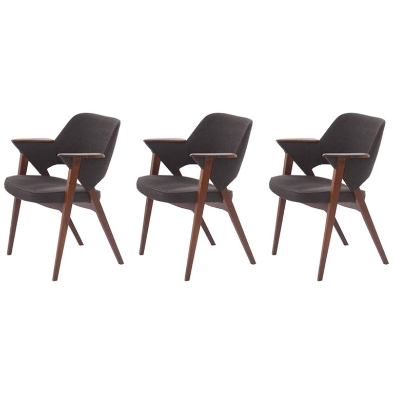 Armchairs with Armrests and Leg Structure in Teak