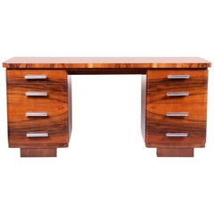 Unique Art Deco Writing Desk from Czechoslovakia