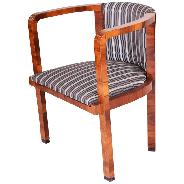 Art Deco Armchair, Period 1930-1939, Completely Restored