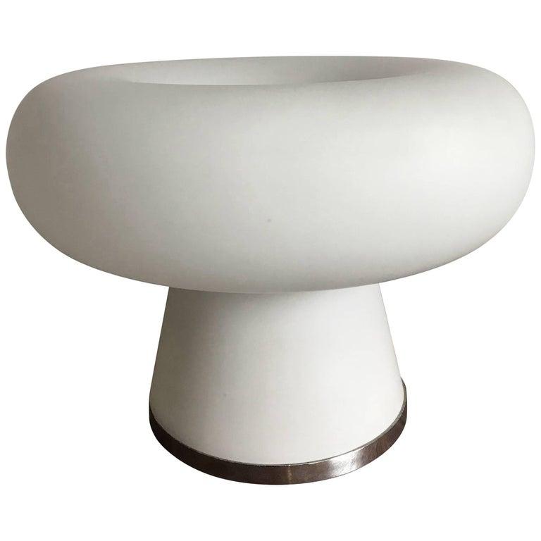 1960s Fontana Arte Mid-Century Modern Italian Glass Table Lamp Model 2431