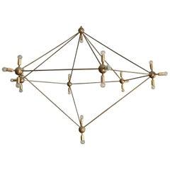 Gigantic Chandelier, Asymmetrical Pentagonal Shaped