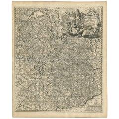 Antique Map of Piedmonte and Savoie 'Italy' by N. Visscher, circa 1683