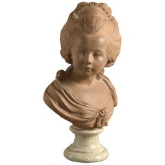 19th Century Terracotta Bust, after Houdon