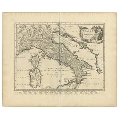 Antique Map of Italy 'Sardinia and Corsica' by P. Cluverus, circa 1672