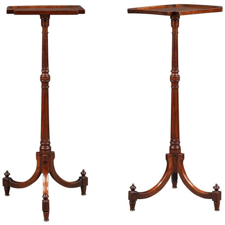 Pair of Georgian Candle Stands