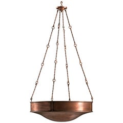 Apsley Hanging Copper Dish Light