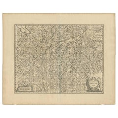 Antique Map of Austria 'Tirol' with Parts of Italy by J. Janssonius, 1649