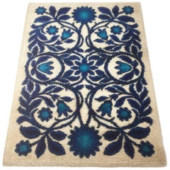 Vintage 1970s Berg Rya Rug Flower Power Made by Bergoss, Netherlands