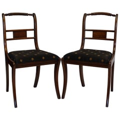 Pair of Regency Rosewood Dining Side Chairs, England, circa 1820