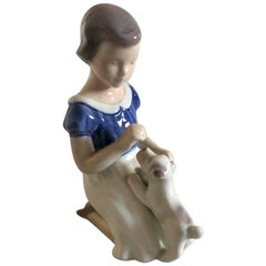 Bing & Grondahl Figurine Girl with Puppy #2316